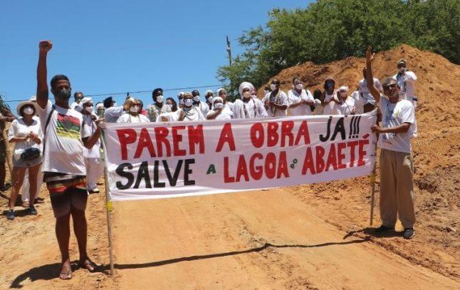 Obra de Esgoto na Lagoa do Abaeté gera manifestações e causa controvérsias